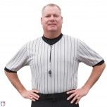 Grey Ultra Mesh V-Neck Referee Shirt