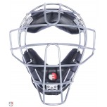 Force3 V2 Silver Defender Umpire Mask with Black + FREE Mask Bag