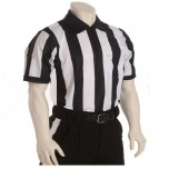 "Smitty 2 1/4"" Stripe Short Sleeve Mesh Football Referee Shirt"