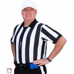 "Smitty 2"" Stripe ""Body Flex"" Short Sleeve Football Referee Shirt"