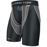 Shock Doctor Black & Grey Velocity Motion360 Compression Shorts