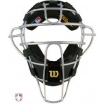 Wilson MLB Silver Dyna-Lite Aluminum Umpire Mask with Black Wrap Around