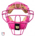 Wilson Pink Dyna-Lite Steel Umpire Mask with Two-Tone