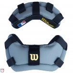 Wilson Wrap Around Umpire Mask Replacement Pads - Black and Grey