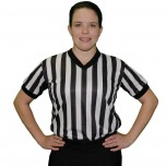Ump Attire (UA) Ultimate V-Neck Women's Referee Shirt with Side Panels