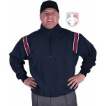 Smitty Traditional Half-Zip Umpire Jacket - Navy and Red