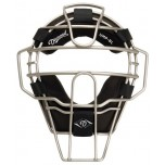 Diamond Silver Big League Aluminum Umpire Mask with Leather
