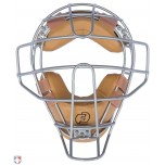 Force3 V2 Silver Defender Umpire Mask with Tan + FREE Mask Bag