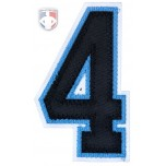 "4"" Number - Black on Polo Blue on White"