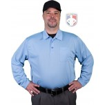 Smitty Major League Style Long Sleeve Self-Collared Umpire Shirt - Polo Blue