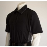 Smitty MLB Replica Umpire Shirt - Black with Charcoal Grey