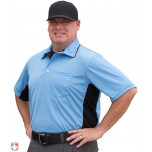 Smitty Major League Replica Umpire Shirt - Sky Blue with Black