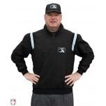 MiLB Smitty Traditional Half-Zip Umpire Jacket - Black with Powder Blue