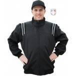 Smitty Major League Style Fleece Lined Umpire Jacket - Black and White
