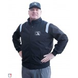 MiLB Smitty Fleece Lined Umpire Jacket - Black with Polo Blue