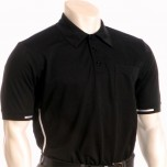 Smitty Major League Style Self-Collared Umpire Shirt-Black