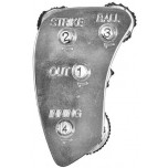 All Star 4-Dial Die Cast Metal Umpire Indicator - 3/2/2 Count