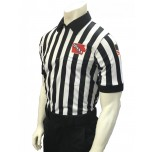 "Iowa (IHSAA) 1"" Stripe Short Sleeve Football Referee Shirt"
