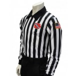 "Iowa (IHSAA) 1"" Stripe Long Sleeve Football Referee Shirt"