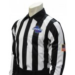 "Georgia (GHSA) 2"" Stripe Long Sleeve Referee Shirt"