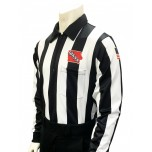 "Iowa (IHSAA) 2 1/4"" Stripe Long Sleeve Football Referee Shirt"