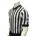 "Kansas (KSHSAA) 1"" Stripe Body Flex Men's V-Neck Basketball Referee Shirt"