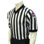 "Missouri (MSHSAA) 1"" Stripe V-Neck Men's Referee Shirt"