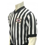 "Nebraska (NSAA) 1"" Stripe V-Neck Men's Referee Shirt"