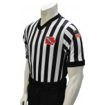 "Iowa (IHSAA) 1"" Stripe V-Neck Men's Referee Shirt with Side Panels"