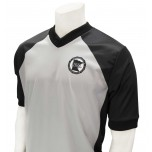 Minnesota (MSHSL) Men's Grey & Black V-Neck Referee Shirt