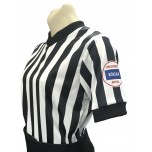 "Kansas (KSHSAA) 1"" Stripe Body Flex Women's V-Neck Basketball Referee Shirt"