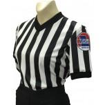 "Missouri (MSHSAA) 1"" Stripe V-Neck Women's Referee Shirt"