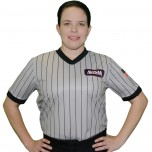 Alabama (AHSAA) Women's Grey V-Neck Referee Shirt