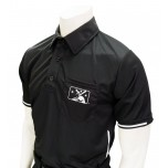 PLATE MiLB Smitty Umpire Shirt - Black with White Vertical Stripe
