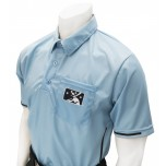 Alternate PLATE MiLB Smitty Umpire Shirt - Polo Blue with Black Vertical Stripe