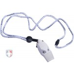 Fox 40 Classic ECLIPSE White Referee Whistle with Lanyard