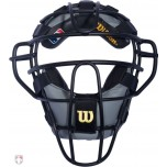 Wilson MLB Black Dyna-Lite Aluminum Umpire Mask with Black and Grey Wrap Around