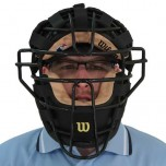 Wilson Chrome Moliben Umpire Mask with Leather Padding