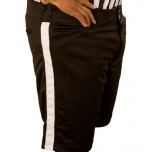 Smitty Black Football Shorts with White Stripe