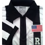 "Smitty College 2"" Stripe ""Elite"" Short Sleeve Football Referee Shirt"