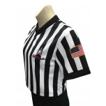 "Alabama (AHSAA) 1"" Stripe V-Neck Women's Referee Shirt"