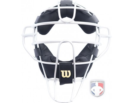 Wilson Silver Dyna-Lite Aluminum Umpire Mask with Memory Foam