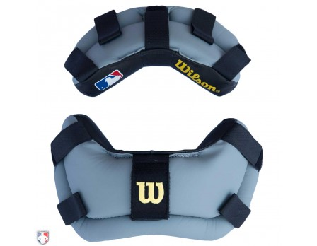 Wilson MLB Wrap Around Umpire Mask Replacement Pads - Black and Grey