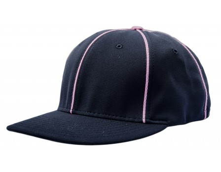 PTS20C-BK Richardson Flexfit Referee Cap - Black with Pink Piping