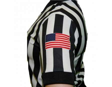 "Smitty Dye Sublimated Women's 1"" Stripe V-Neck Referee Shirt"