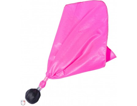 F132 PINK CENTER REFEREE PENALTY FLAG - BLACK BALL