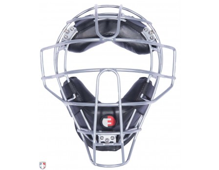 F3-DEF-BK Force3 Silver Defender Umpire Mask with Black