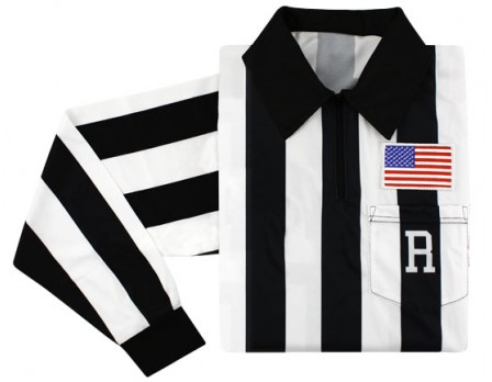 "Ump Attire (UA) Ultimate College 2"" Stripe Long Sleeve Referee Shirt"