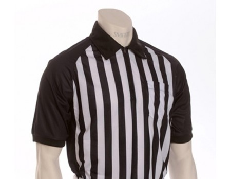 "Oklahoma ""ELITE"" Performance Interlock Short Sleeve Referee Shirt with Black Raglan Sleeves and Side Panel"