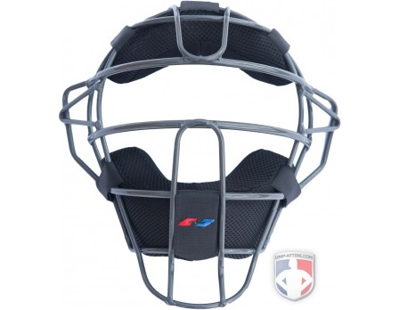 +POS Zero Gravity Umpire Face Mask-Charcoal Grey